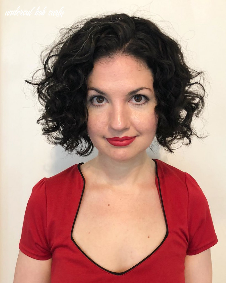 Dark undercut bob with layers and curly texture | see how to… | flickr undercut bob curly