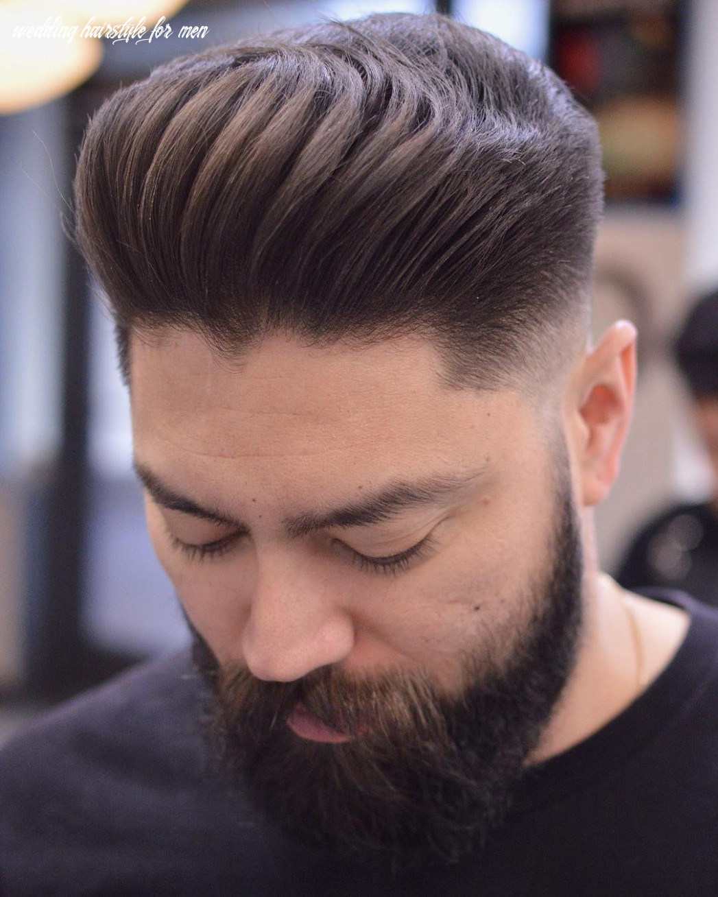 Decent hairstyles for wedding loose textured skin fade pompadour
