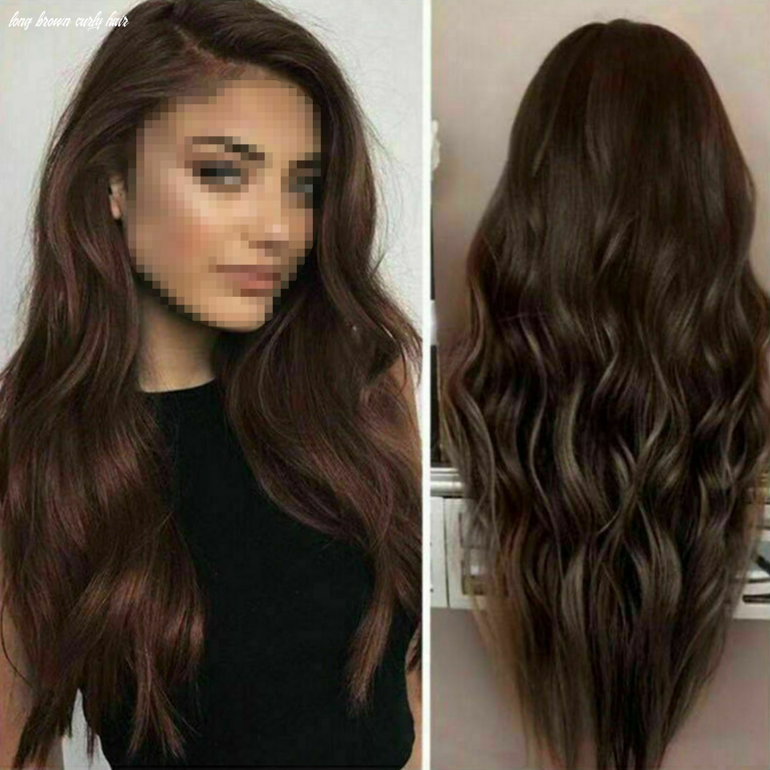 Details about fashion women long wavy wigs dark brown synthetic curly hair cosplay wig natural long brown curly hair