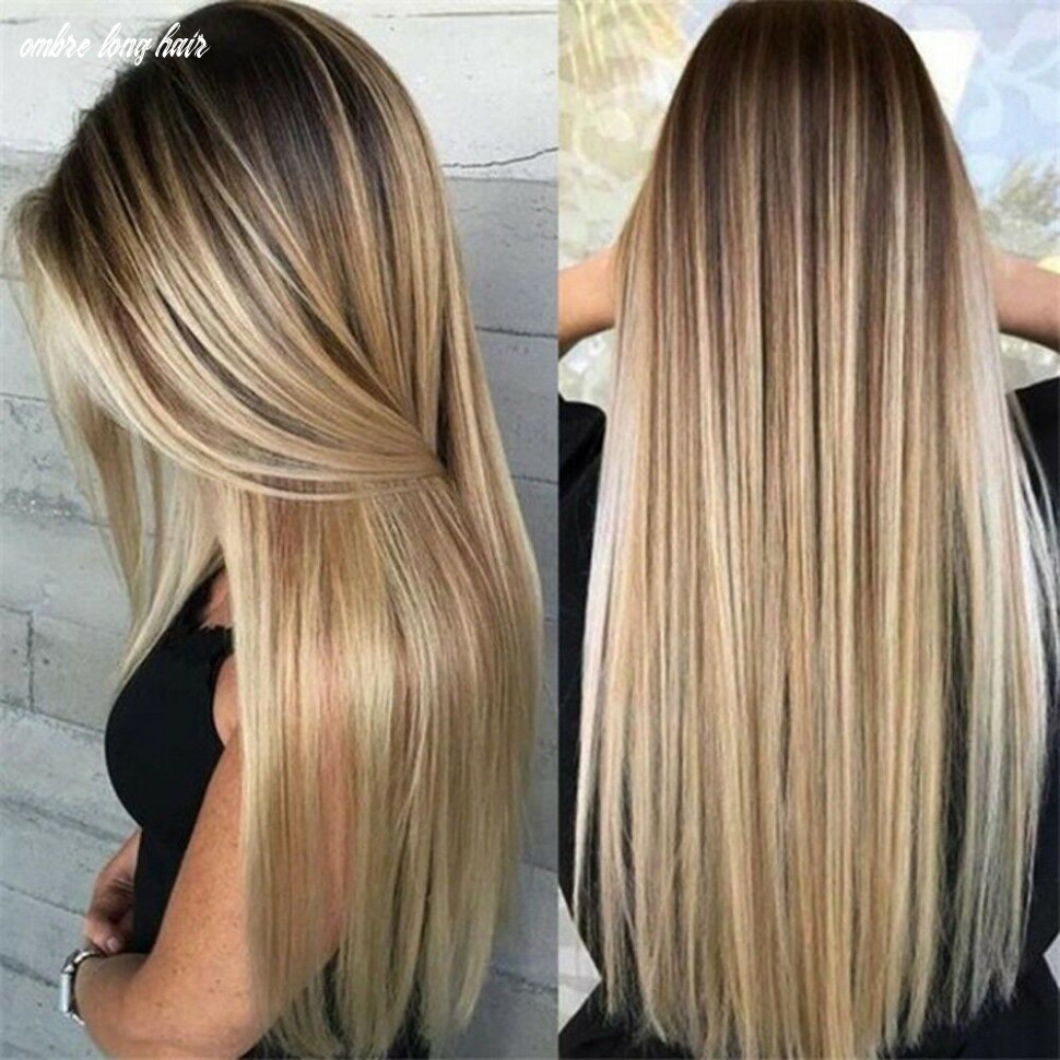 Details about sexy womens blonde wig ombre long brown gold straight black synthetic hair wigs ombre long hair
