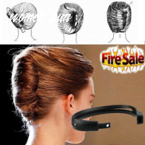 Details zu 9pcs women hair styling updo donut bun clip tool french twist maker holder de rr women bun