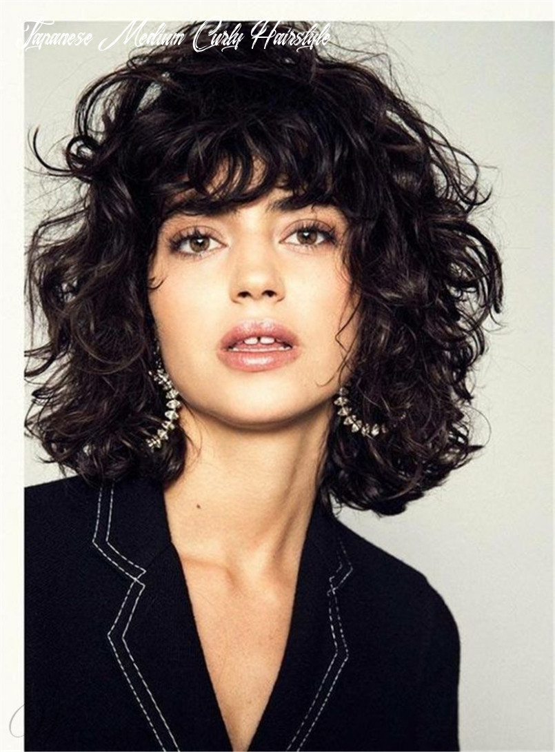 Details zu fluffy layered bob hairstyle medium charming synthetic curly hair women wigs japanese medium curly hairstyle