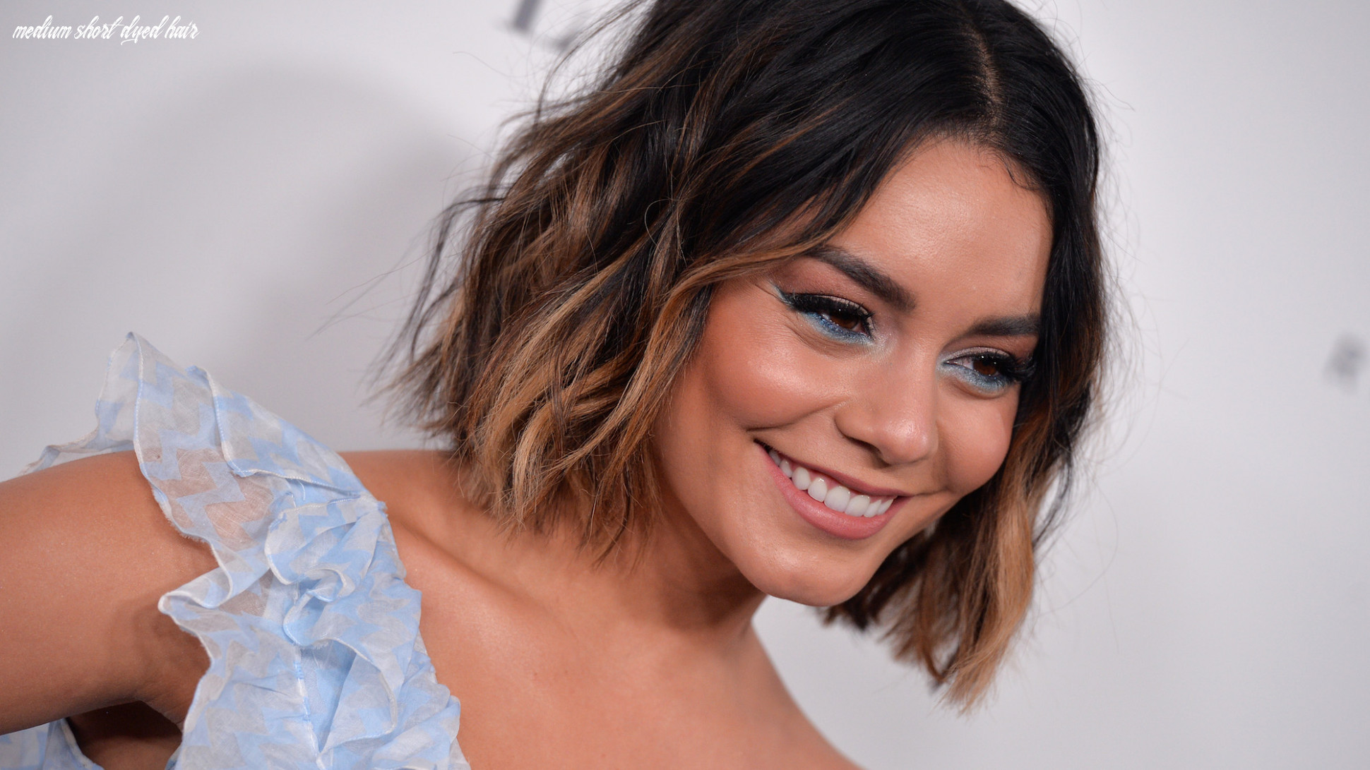 Dip dye hairstyles from some of our favourite celebrities medium short dyed hair