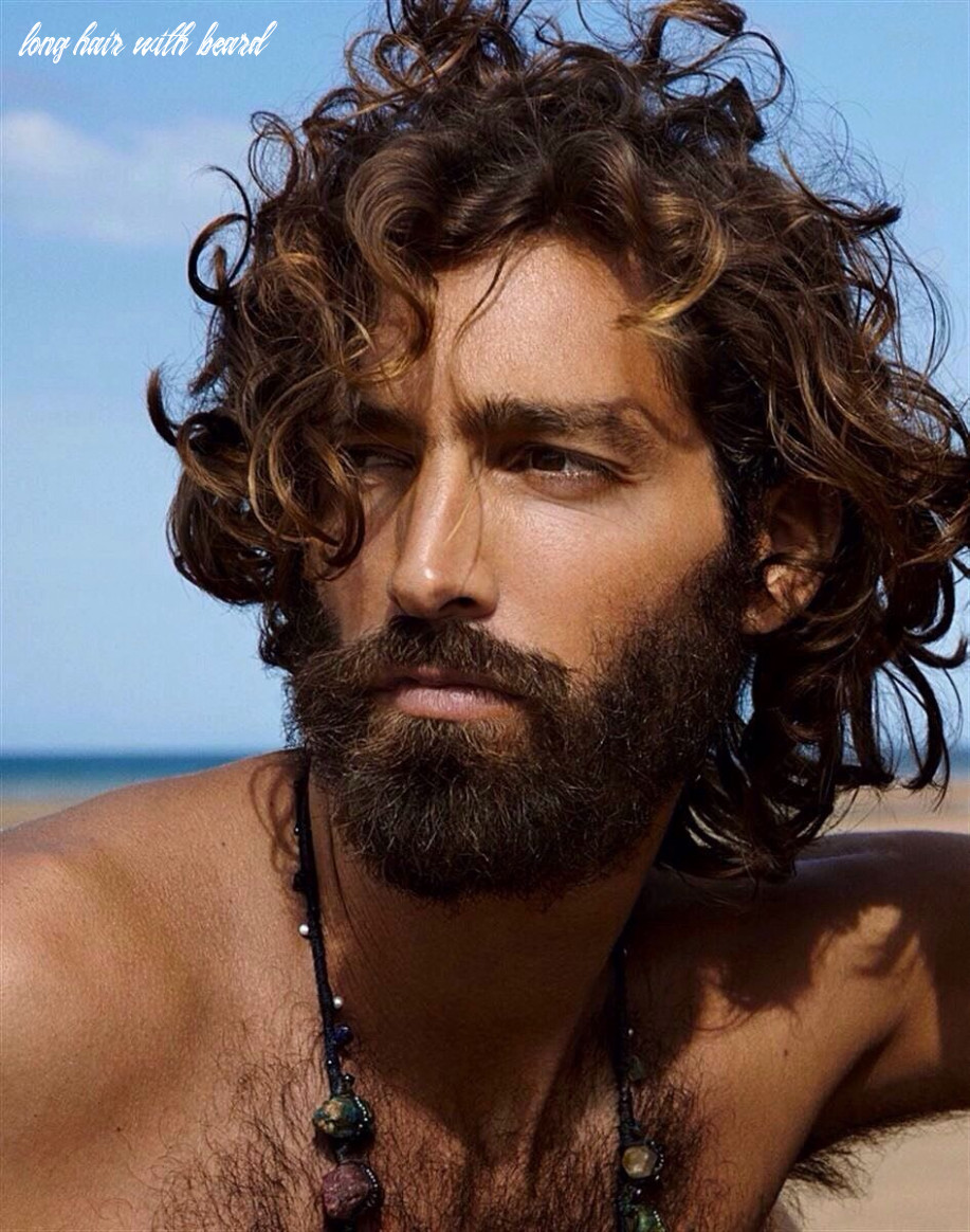 Divine, curly long hair, bearded, shirtless, hairy chest   long