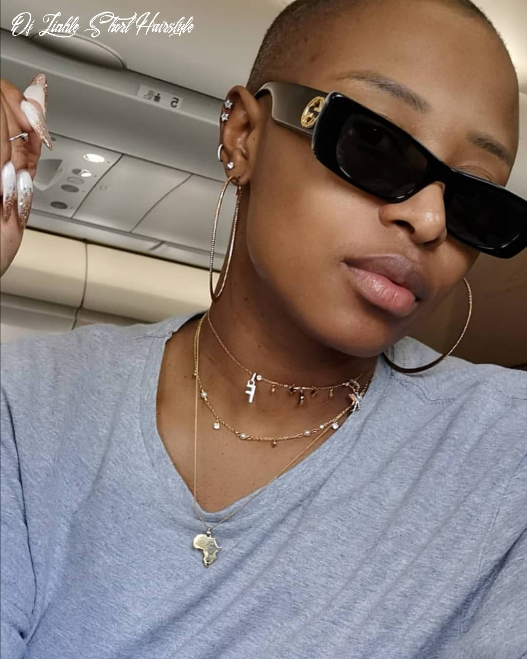 Dj zinhle looks so hot in her new bald look – picture | dj zinhle short hairstyle