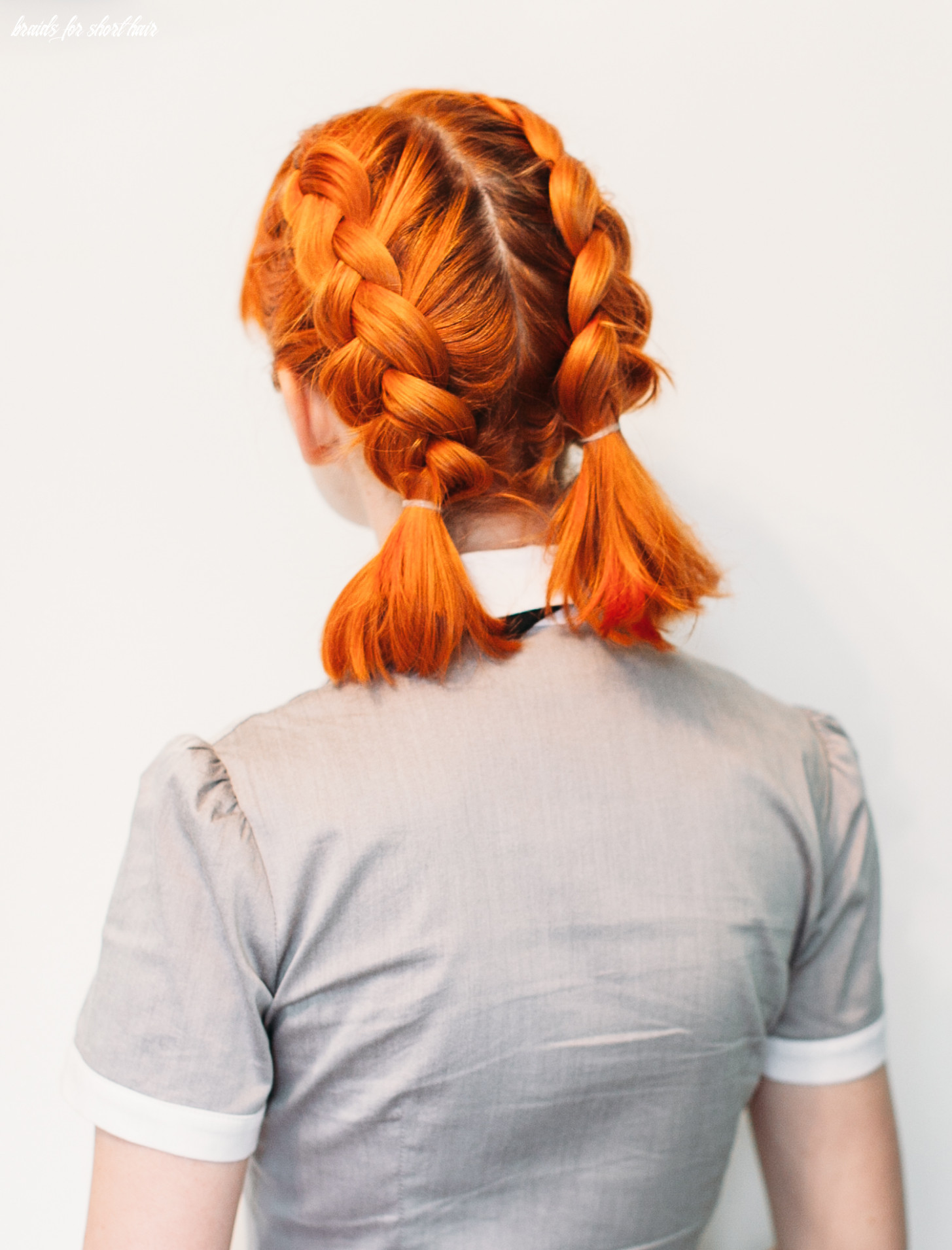 Double dutch pigtails for short hair a beautiful mess braids for short hair