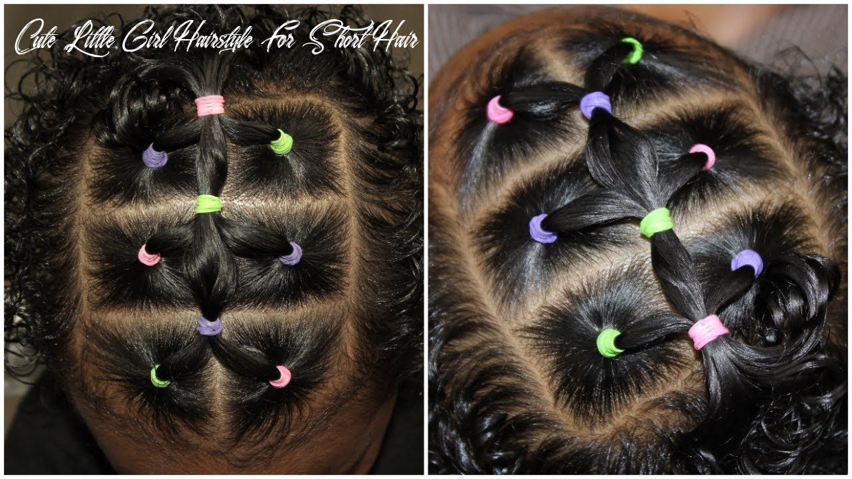 Easy 8 minute elastic hairstyle | cute hairstyles for toddlers
