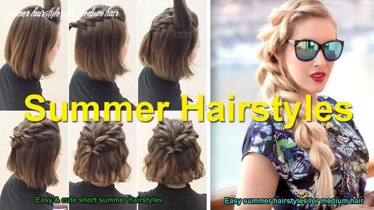 Easy & cute short summer hairstyles | easy summer hairstyles for