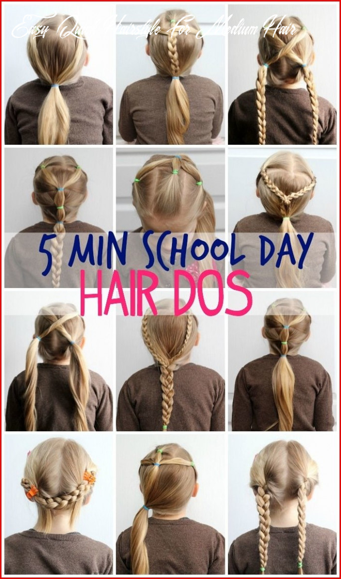 Easy cute hairstyles for medium hair to get you ready only in 11