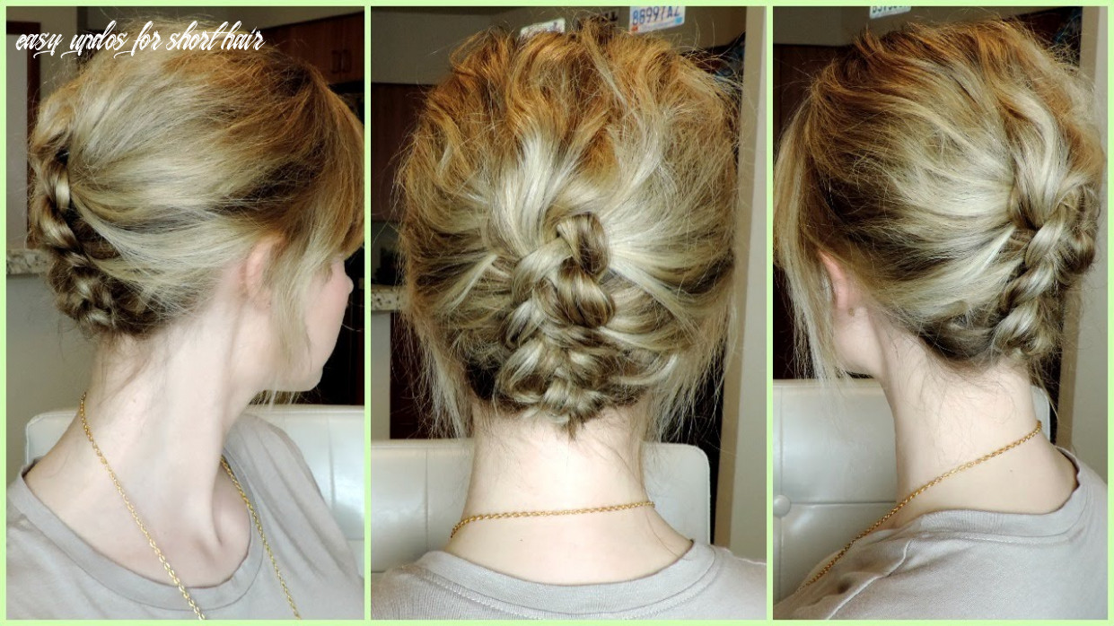Easy dutch braid updo for short to medium hair easy updos for short hair