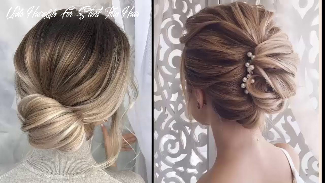 Easy elegant updos for thin hair easy prom hairstyles for short