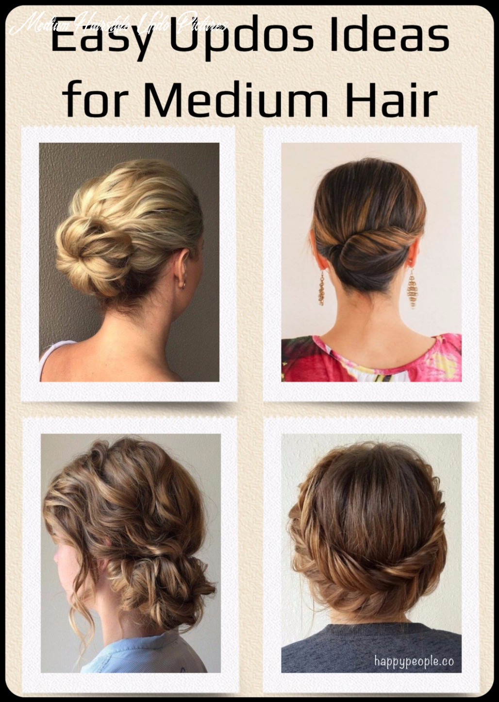 Easy hair updo ideas for medium hair that are cute medium hairstyle updo pictures