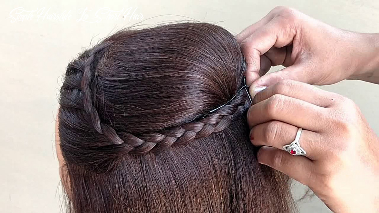 Easy hairstyle for short hair || simple hairstyle for party and function simple hairstyle in short hair