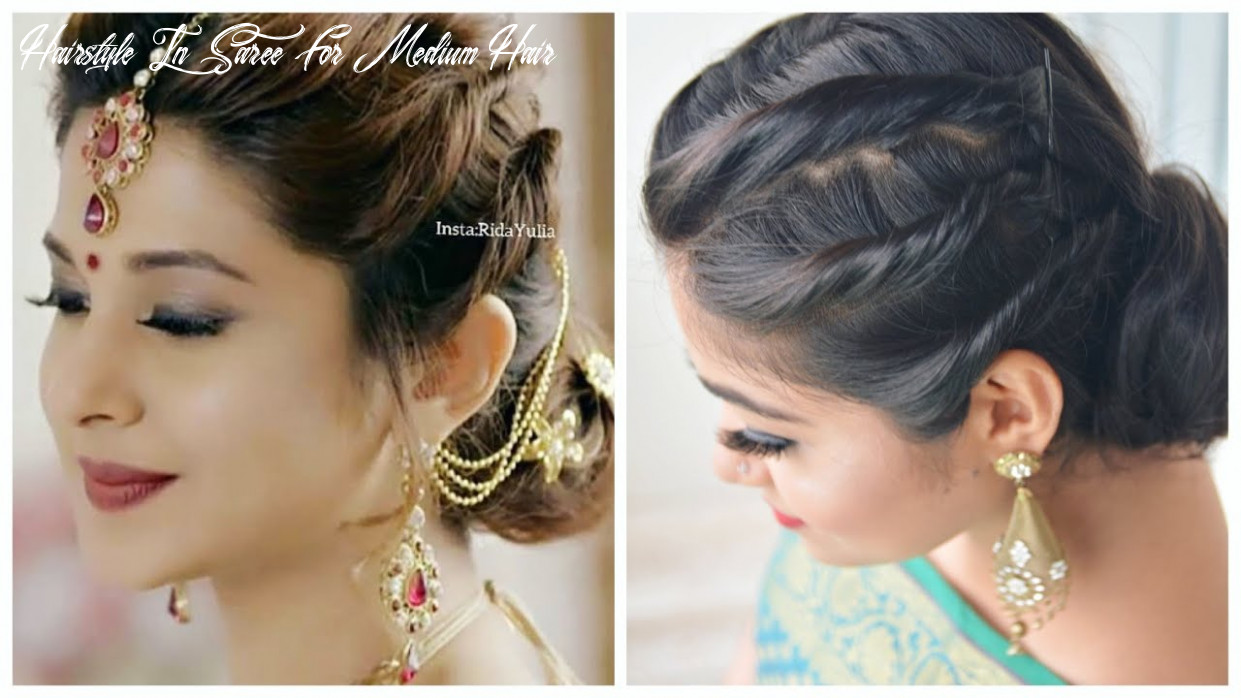 Easy hairstyle with saree | jennifer winget hairstyle | wedding/ party hairstyles for girls hairstyle in saree for medium hair
