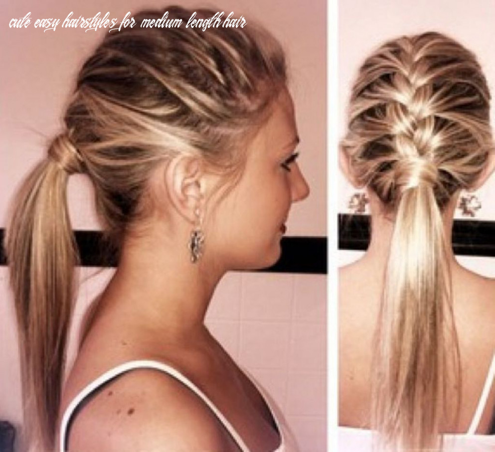 Easy hairstyles for medium hair trends in 8 cute easy hairstyles for medium length hair