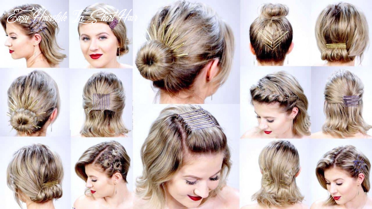 Easy hairstyles for short hair   hairstyles haircuts for any taste easy hairstyle in short hair