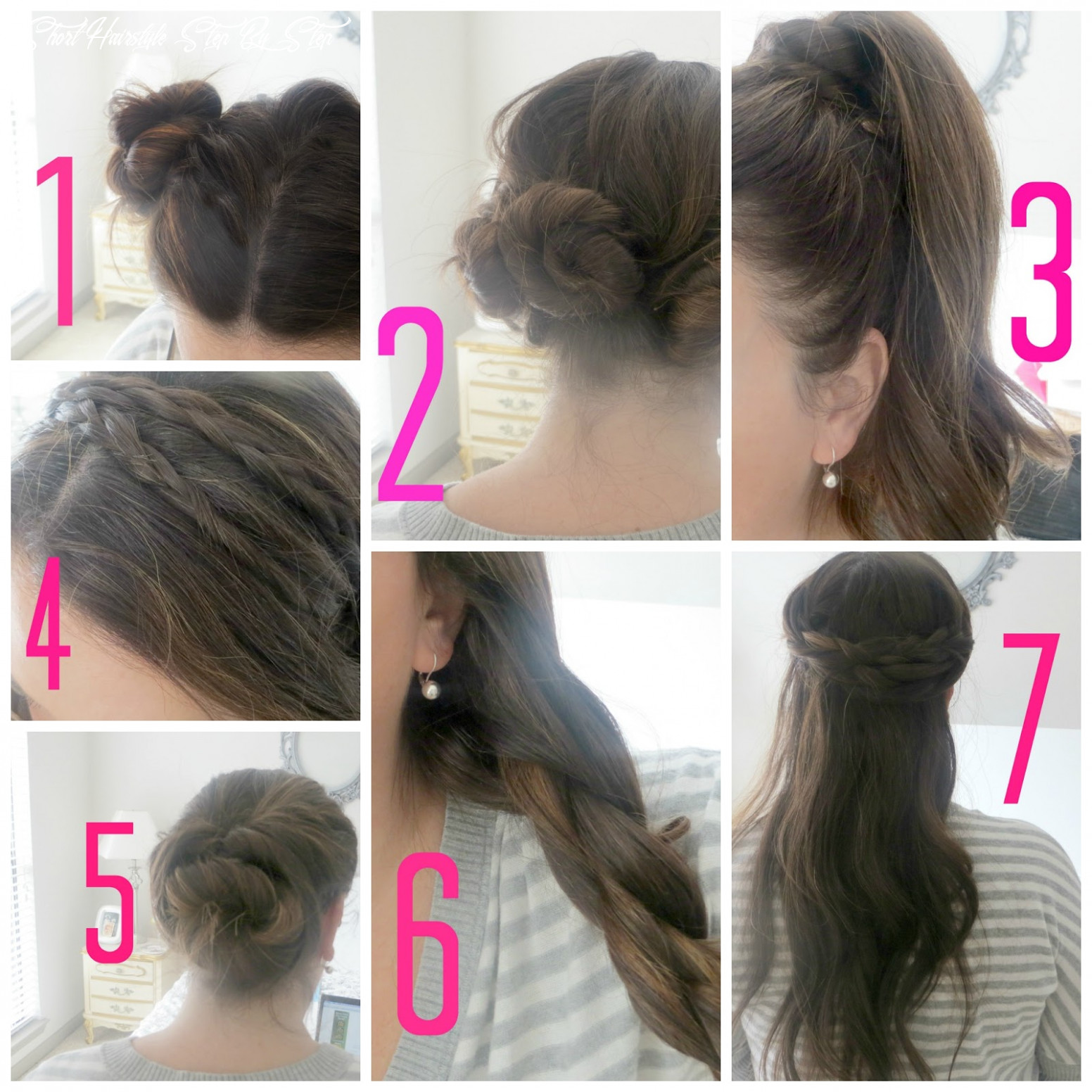 Easy hairstyles for short hair step by step   haircuts short hairstyle step by step
