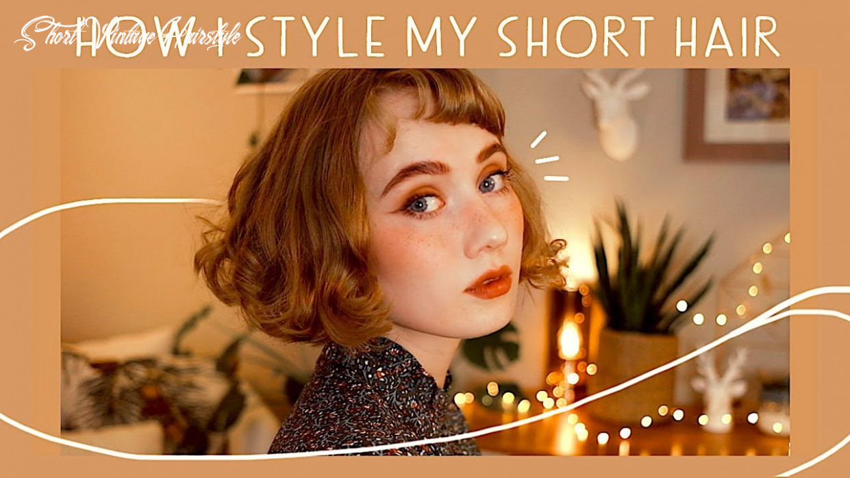 Easy hairstyles for short hair ✨ // vintage inspired short vintage hairstyle