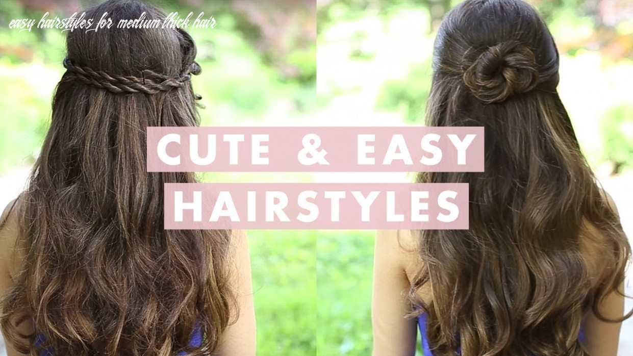 Easy hairstyles for thick hair youtube | haircuts easy hairstyles for medium thick hair