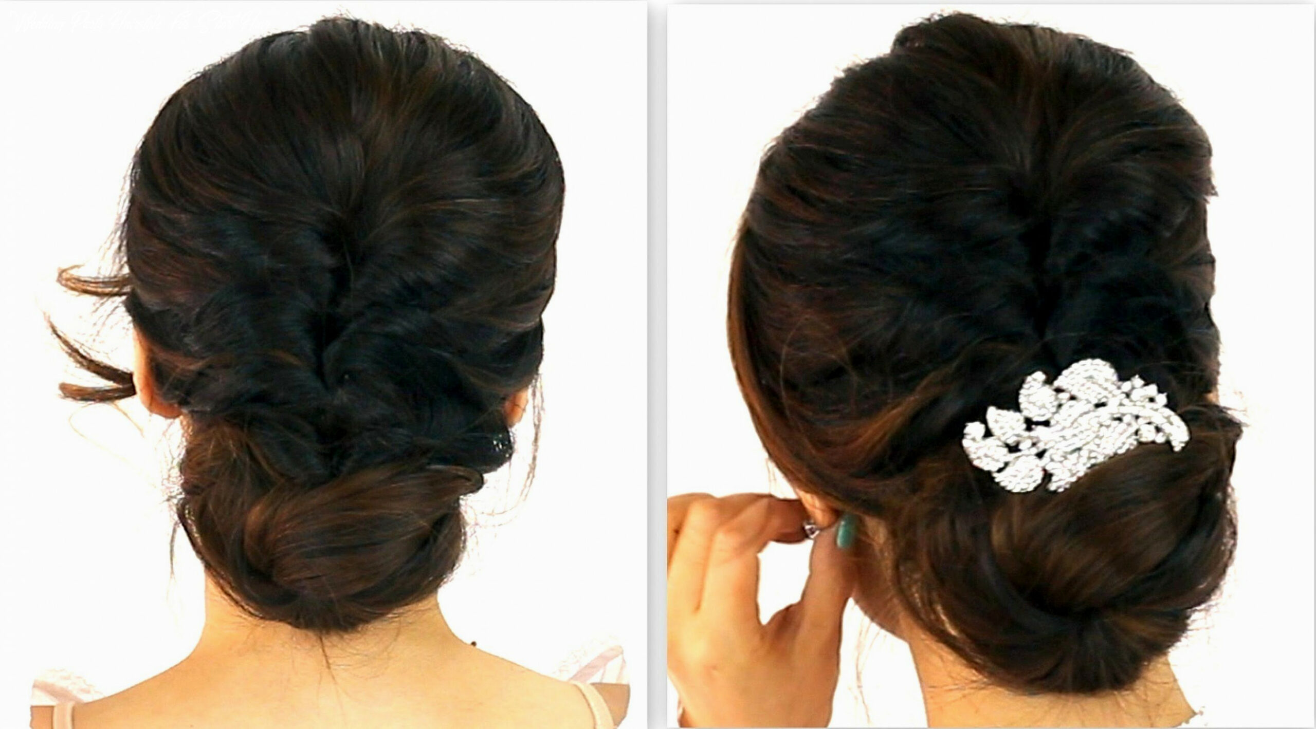 Easy indian wedding hairstyles for medium hair with tiara indian