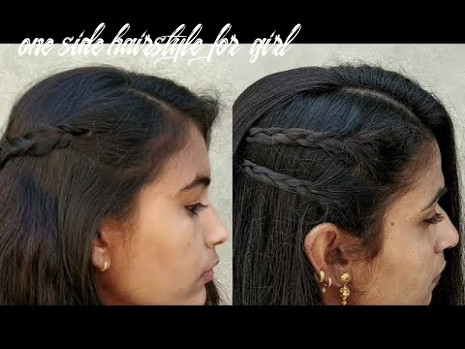 Easy one side hairstyles for girls || beautiful & quick hairstyles for party || self hair style girl one side hairstyle for girl