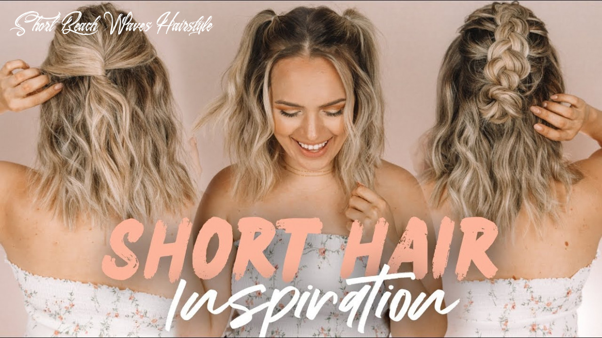 Easy short hairstyles and beach waves! kayleymelissa short beach waves hairstyle