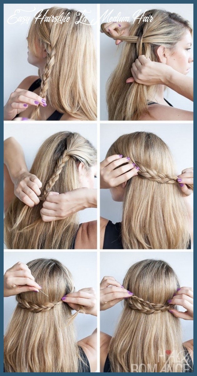 Easy to do hairstyles for medium hair 9 9 cute hairstyle