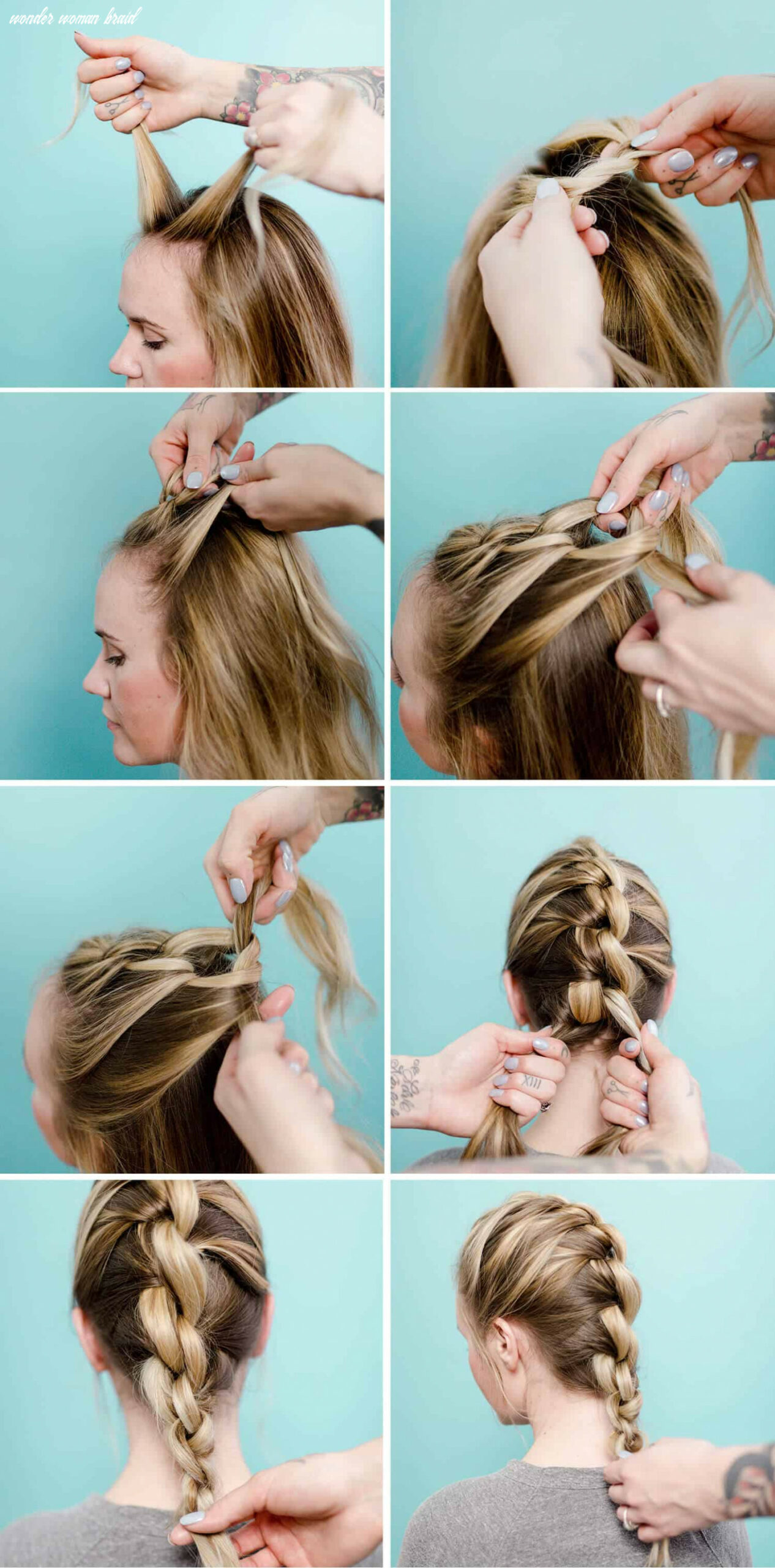 Easy (wonder woman inspired) knotted braid a beautiful mess wonder woman braid