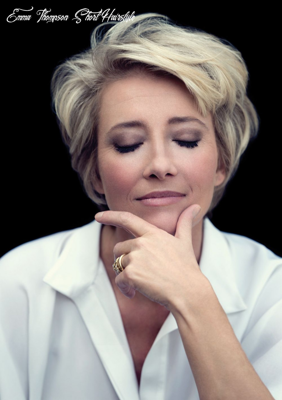 Emma thompson | modern short hairstyles, haircut for older women