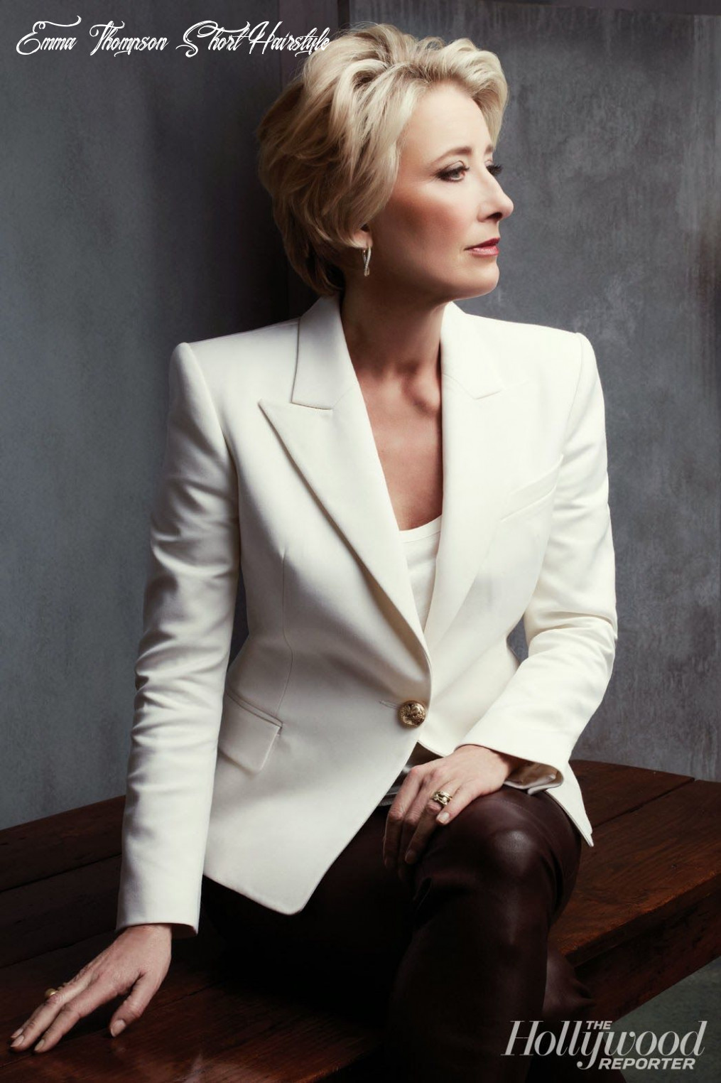 Emma Thompson (With images) | Short hairstyles for women, Short ...