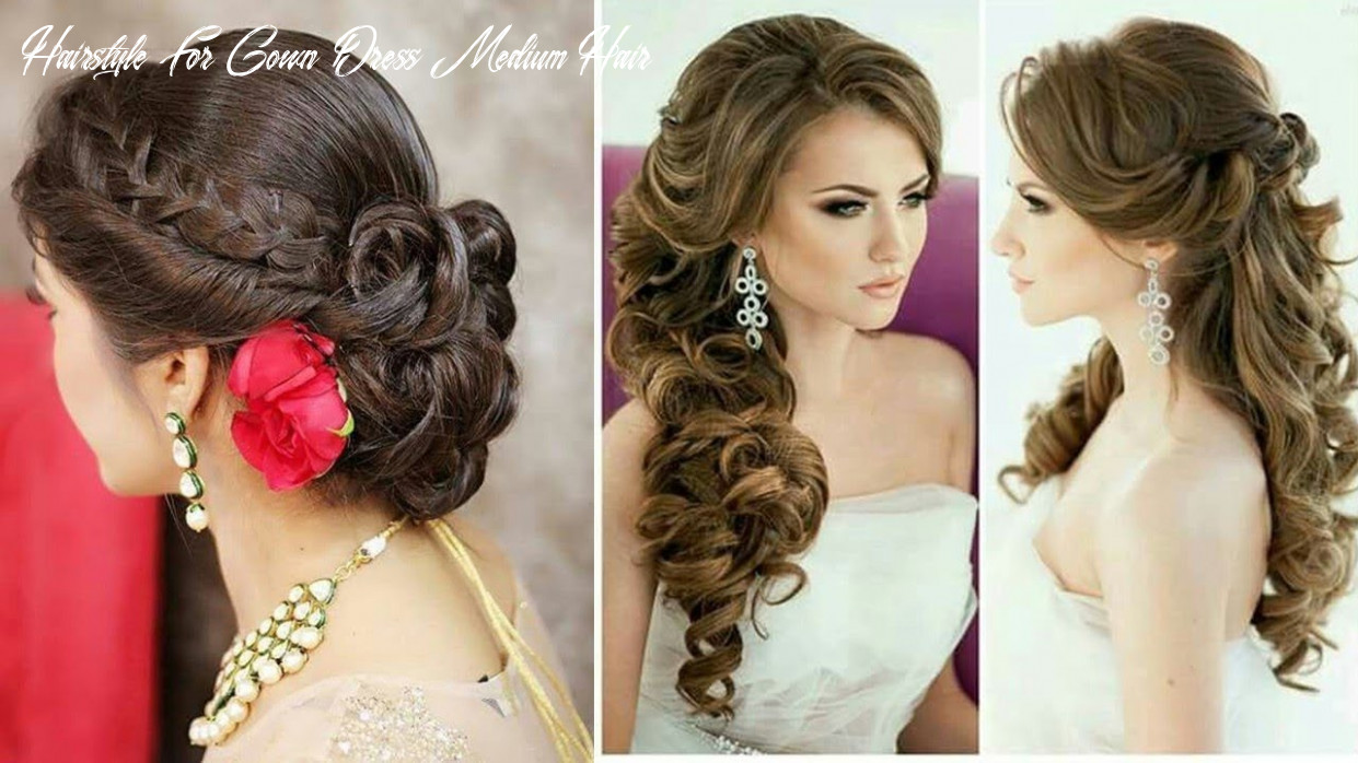 Engaging hair style on gown dress one shoulder strap dress hairstyles hairstyle for gown dress medium hair