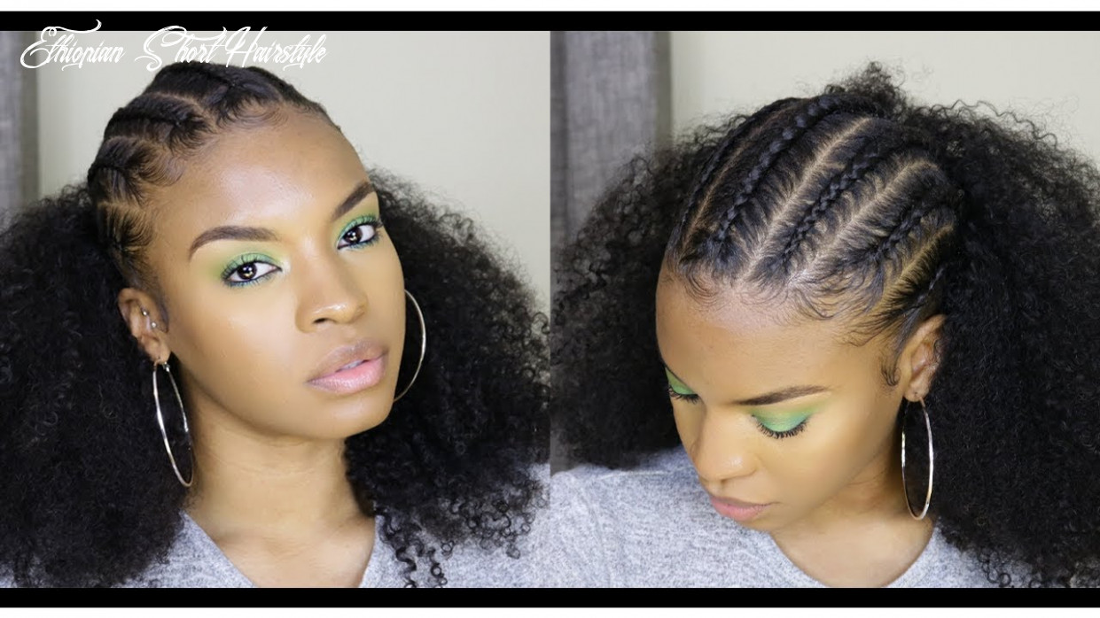 Ethiopian inspired quick style using better length clip ins | natural hair ethiopian short hairstyle