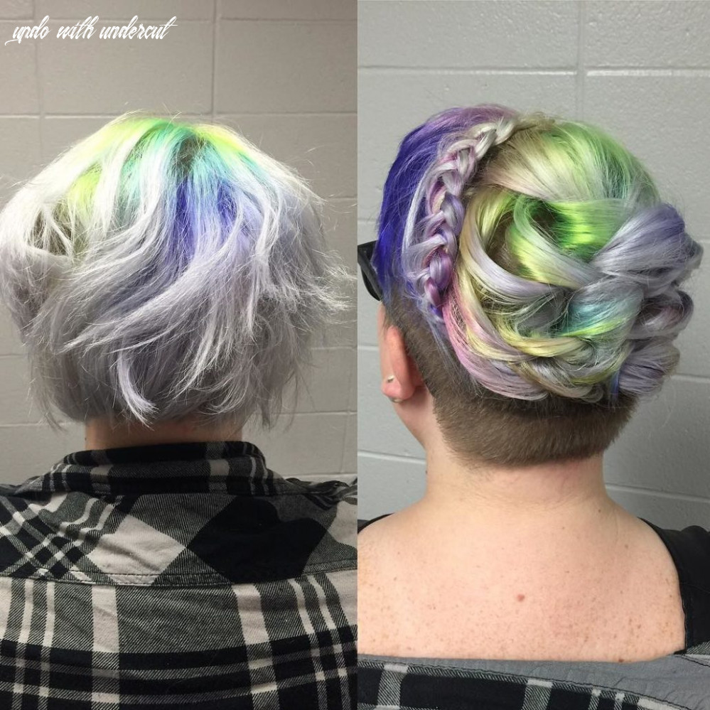 Even an undercut with short hair can go up! look at her root