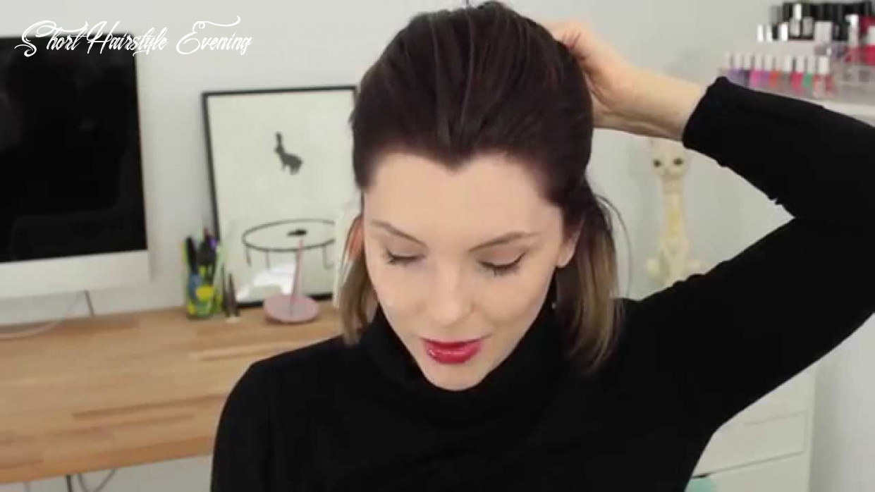 Evening hair style tutorial for short hair with essie button   advertisement for all things hair short hairstyle evening