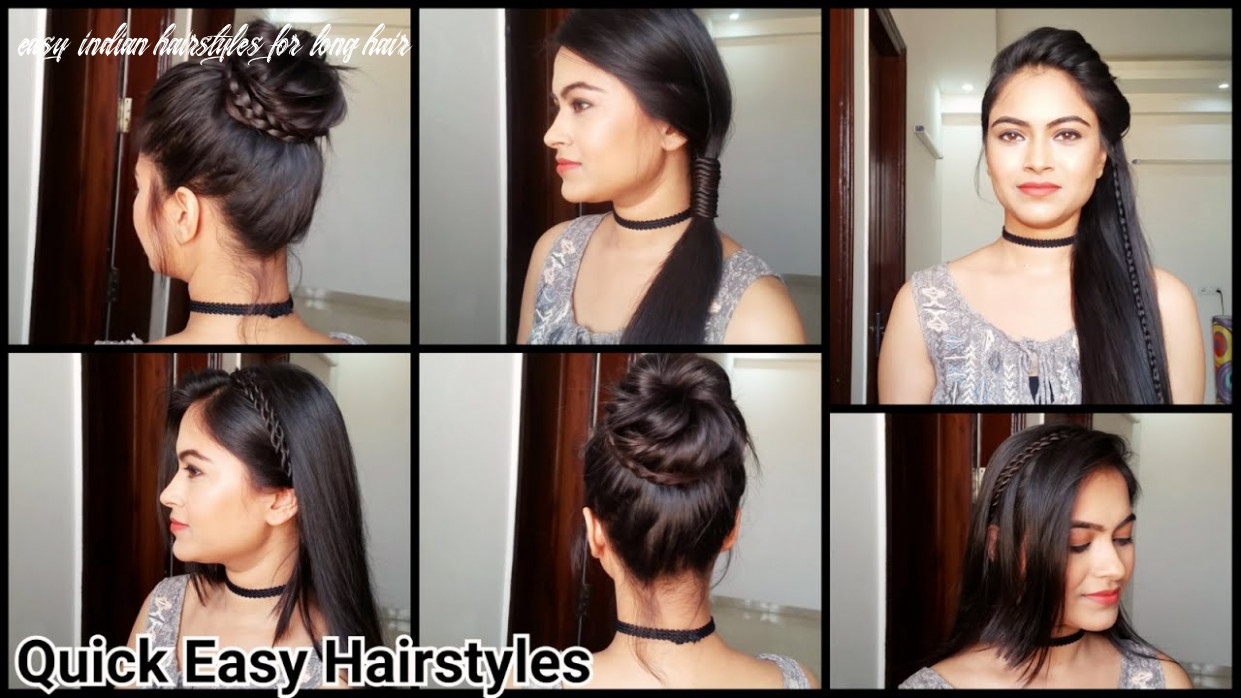 Everyday quick easy hairstyles// indian hairstyles for medium/long hair for school/college/work easy indian hairstyles for long hair