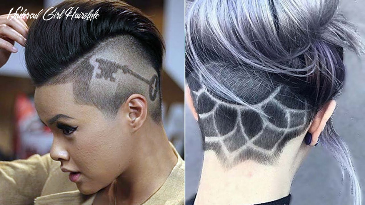 Extreme undercut ideas for women & girls ♛ undercut haircut women ♛ nape under cut women design undercut girl hairstyle