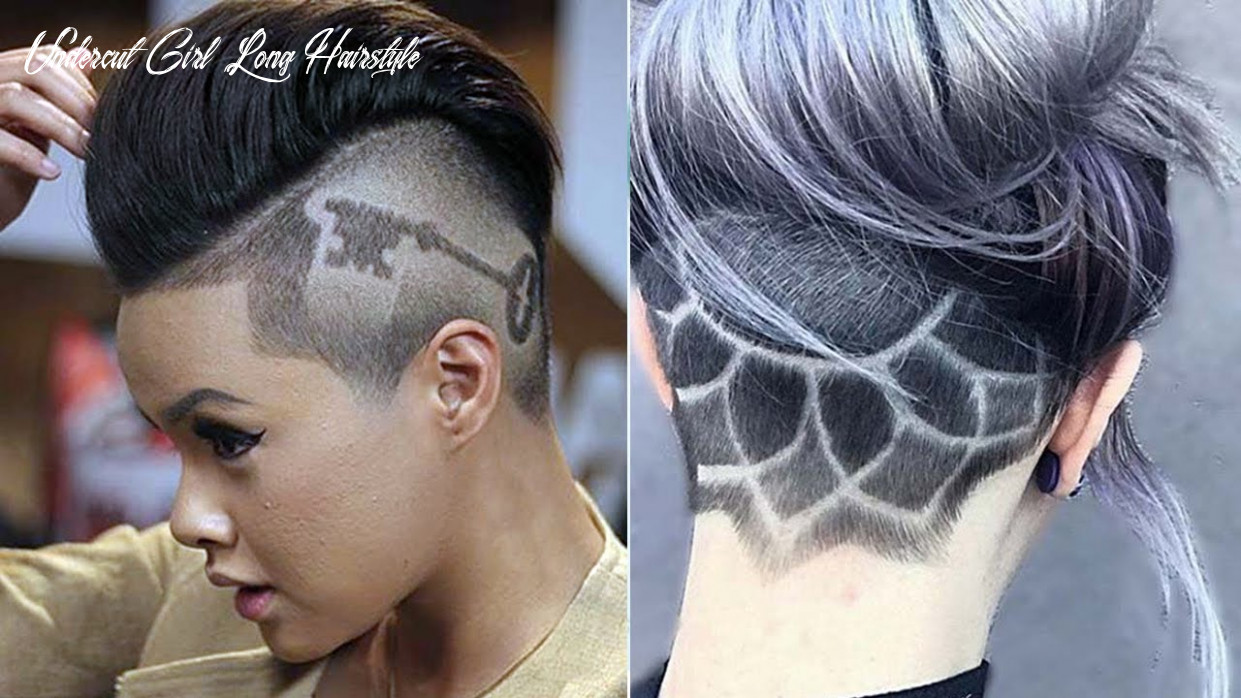 Extreme undercut ideas for women & girls ♛ undercut haircut women ♛ nape under cut women design undercut girl long hairstyle