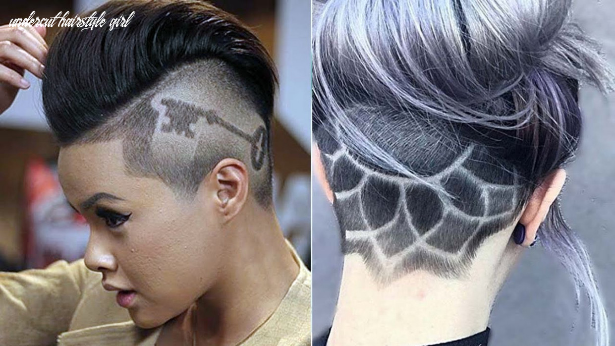 Extreme undercut ideas for women & girls ♛ undercut haircut women ♛ nape under cut women design undercut hairstyle girl