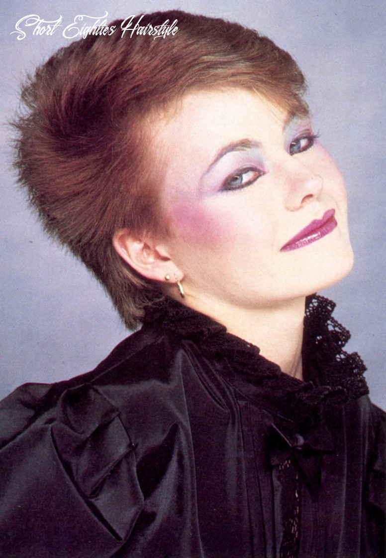 Extremely short eighties new wave hairstyle short eighties hairstyle
