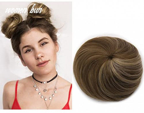 Fake hair buns extensions clip in donut chignon bun synthetic hairpieces ballerina bayalage brown updo accessories for women gril lady sarla q9&9h9 women bun