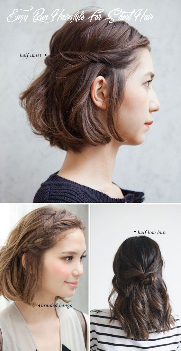 Fashonable updo hairstyles for short hair styles weekly easy bun hairstyle for short hair