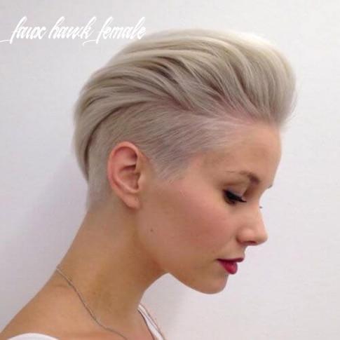 Faux hawk haircuts and hairstyles for women 10 faux hawk female
