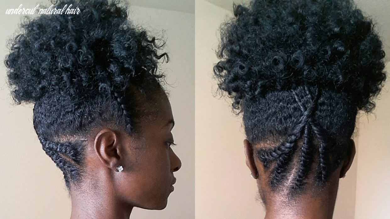 Faux undercut style on natural hair undercut natural hair