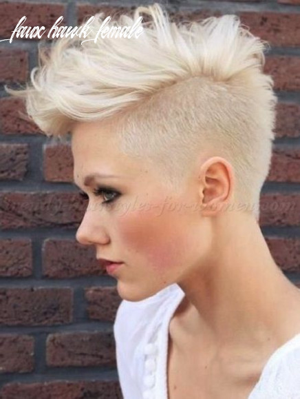 Fauxhawk for women short blonde hairstyles undercut with