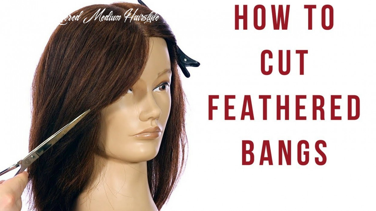 Feathered layers haircut tutorial how to cut feathered bangs & face frame thesalonguy feathered layered medium hairstyle