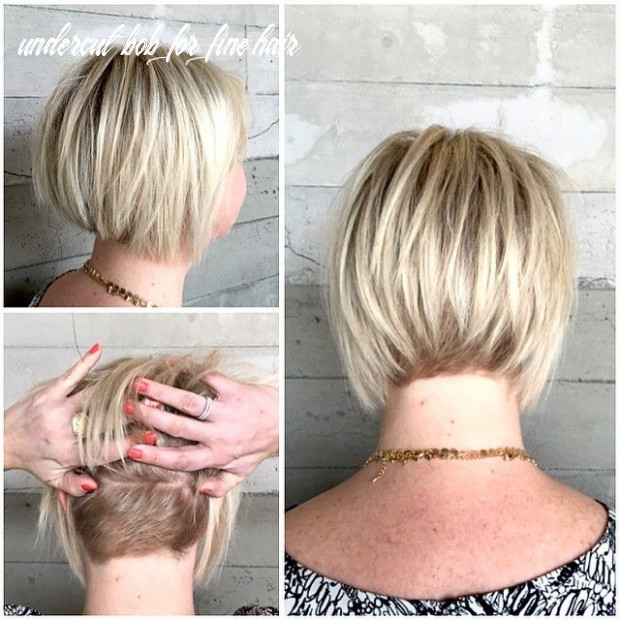 Fine hair textured bob with dimensional blonde if done the right