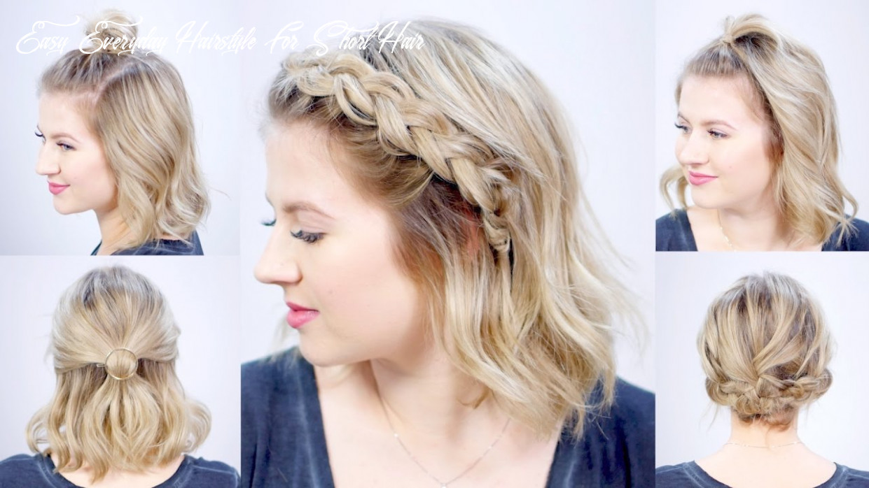 Five 9 minute super easy hairstyles | milabu easy everyday hairstyle for short hair