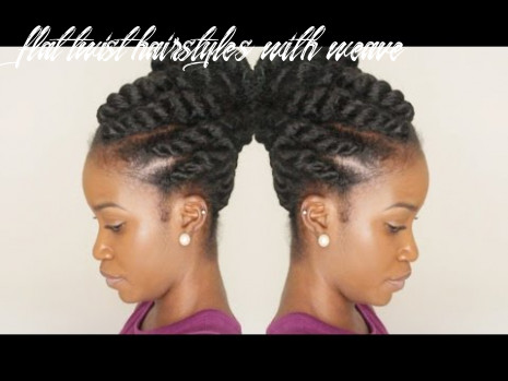 FLAT TWIST UPDO USING MARLEY BRAIDING HAIR | WINTER PROTECTIVE STYLE PT. 12