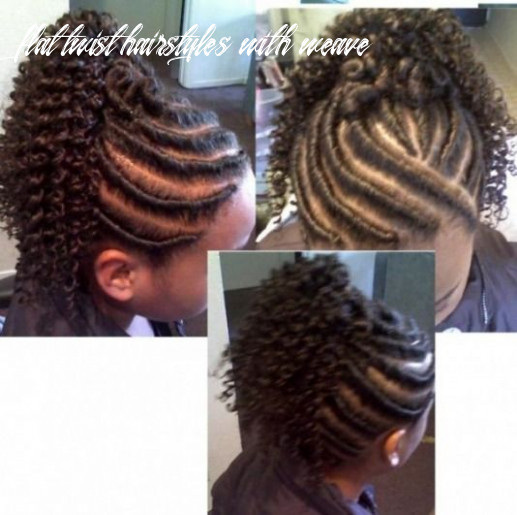 Flat twist updo with extensions | below flat twist with weave and