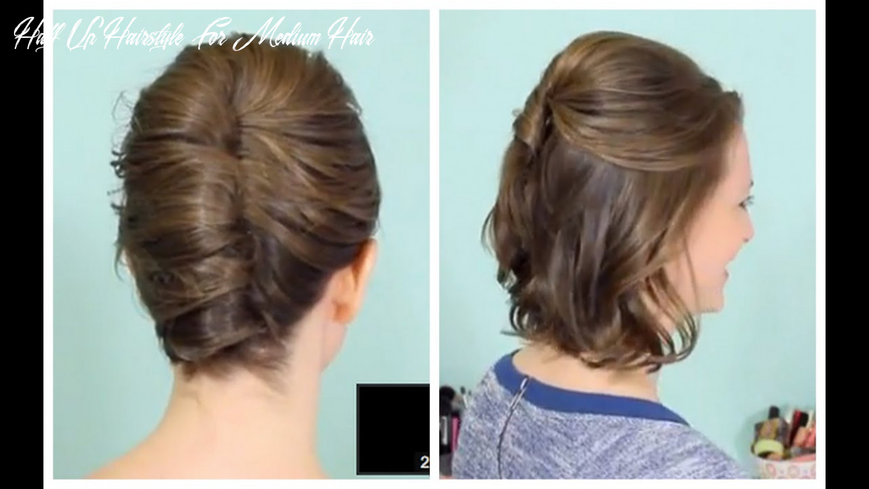 French twist & half updo for short hair! half up hairstyle for medium hair